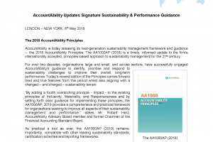 AccountAbility Updates Sustainability & Performance Guidance